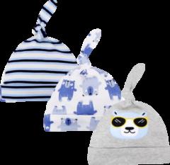 Babymuts set – Beren blauw