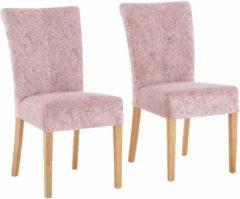Rosa Home affaire Stuhl »Queen« im 2er-Set, bezogen mit Web- oder Strukturstoff, Microfaser oder Kunstleder