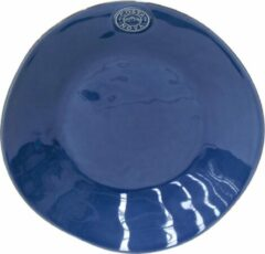 Costa Nova - servies - diepbord - Nova blauw - aardewerk - set van 6 - 25 cm rond