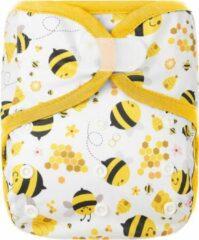 HappyBear - Luierbroekje Bijen   4-15kg - Wasbaar - Onesize - Wasbare luiers - Overbroekje