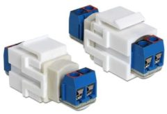 DeLOCK 86323 terminalblock terminalblock Blauw, Wit kabeladapter/verloopstukje