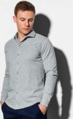 Merkloos / Sans marque Overhemd - Heren - K540 - Grijs
