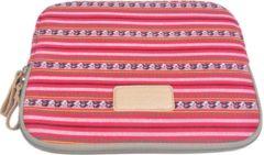 Rode Lisen – Laptop/Tablet Sleeve tot 10 inch – 27 x 21 x 1,5 cm - Bohemian Style – Rood