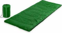 Merkloos / Sans marque Groene kampeer 1 persoons slaapzak dekenmodel 75 x 185 cm - Kamperen en outdoor artikelen kampeerslaapzakken