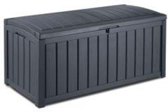 Antraciet-grijze Keter Glenwood - Kussenbox 390 liter, 128 x 61 x 65 cm - Antraciet