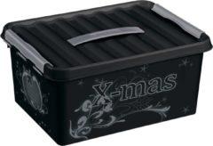 Sunware Q-line Kerstballen Opbergbox - Voor 40 Kerstballen - Kunststof - Zwart