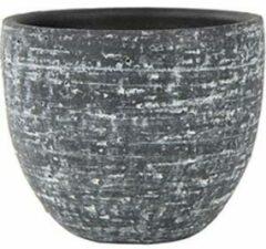 Antraciet-grijze Ter Steege Pot Karlijn antraciet bloempot binnen 15 cm