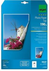 Witte Sigel Photo Paper Top IP720 Photo paper A4 190 g/m² 20 sheet High-lustre, Double sided