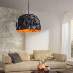 Wohnling Design Pendelleuchte GLORY schwarz / gold Ø 40 cm Deckenlampe mit Metall-Schirm Moderne Hängelampe Loft Pendellampe Industrie Deckenleucht