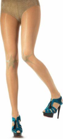Afbeelding van Gouden Pretty Polly Lurex Star Knee Tights van House of Holland