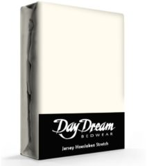 Creme witte Day Dream - Hoeslaken - Jersey - 140 x 200 cm - Crème