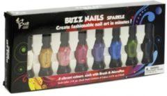 Buzz Nagellak Sparkle 8 kleuren kwast en pen