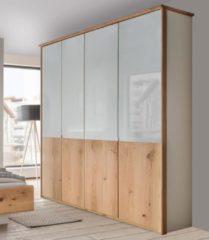 Wiemann Kleiderschrank, mit Echtholzfurnier und Glas-Elementen