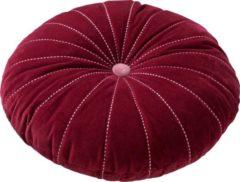 Rode Dutch Decor Sierkussen Maan 50 cm Red Plum