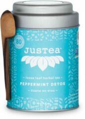 Peppermint Detox - JUSTEA - 45 gram/80 kop - Munt thee - Biologische losse thee - Thee cadeau - Fairtade !