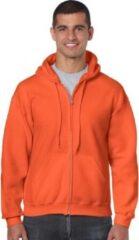 Gildan Oranje vest met capuchon voor heren M