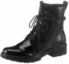 Zwarte Tamaris veterlaarsjes »ZEYA«