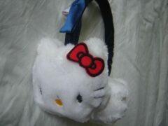 Suncity Oorwarmers van Hello Kitty, wit-donkerblauw