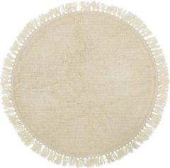 Witte Bloomingville 32708249 Binnen Tapijt Rond Wol Crème tapijt