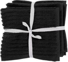 HEMA Vaatdoekjes - Katoen - Zwart - 3 Stuks (zwart)