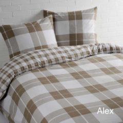 Zandkleurige Day Dream Alex - Dekbedovertrek - Lits-jumeaux - 240x200/220 cm + 2 kussenslopen 60x70 cm - Beige