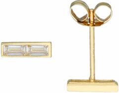 Glow Gouden Oorknoppen - Baguette Kastzetting 206.2091.00