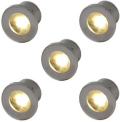 Outlight Led inbouwspots Forte Mini (5 x) 230 volt Ou. VY005-1w 2700K