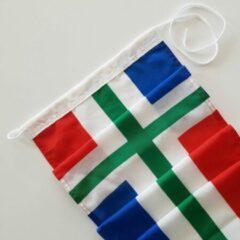 Rode Dekker Vlaggen Premium kwaliteit wimpel Groningen 300 cm 100% stil (zonder stokje)! Voor masten 6 (7) meter.