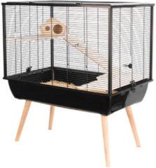 Zolux Neo Silta Knaagdierkooi - Dierenverblijf - Zwart - 78 x 48 x 87,5 cm