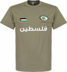 Kaki Retake Palestina Football T-Shirt - Khaki - XS