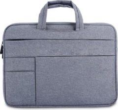 MoKo H621 Laptop Schoudertas opbergvakken 14.1 inch Notebook Tas - Hoes Multipurpose voor Macbook Pro 15.4 A1707 A1990 (14-14,1 inch, grijs)