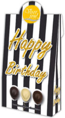 Voor Jou! Cadeau doos black & white happy birthday 100 Gram