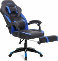Songmics Gamestoel - Bureaustoel - Gamingstoel - Racestoel - Zwart/Blauw