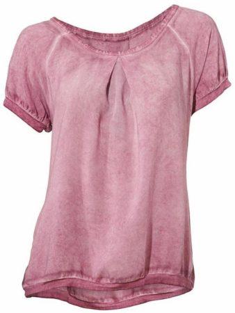 Afbeelding van Paarse Kraagloze blouse