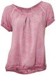 Paarse Kraagloze blouse