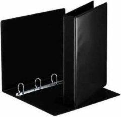 Esselte personaliseerbare ringmap, rug van 5,1 cm, 4 D-ringen van 30 mm, zwart