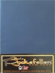 Marineblauwe Gloria Rockefeller Hoeslaken Satijn - Eenpersoons - 80x200 cm - Marine