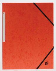 5 Star elastomap 3 kleppen oranje, pak van 10 stuks