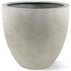 Luca Lifestyle Grigio plantenbak Egg Pot XL antiek wit betonlook