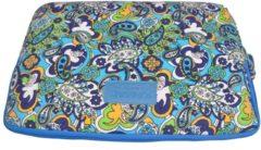 Blauwe Kinmac – Laptop Sleeve met Paisley print tot 13 inch – 35,5 x 25 x 1,5 cm - Blauw/Groen