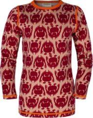 Vossatassar Monster thermo shirt merino wol - chili