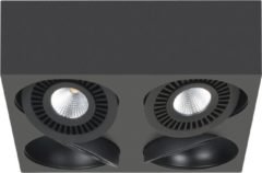Highlight Spot eye 4 x 5w vierkant led mat zwart dimbaar