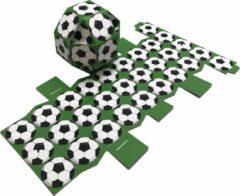 """Presentdoosjes.nl Presentdoosje """"voetbal doosje groen"""" : 9,5 x 9,5 x 9,5cm (10 stuks)"""