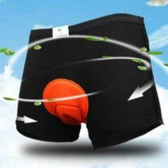 Oranje Falkann Fiets onderbroek met zeem - unisex - 3XL