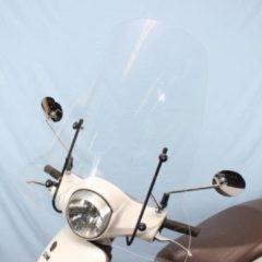 Windscherm Sym Fiddle 2 hoog model helder incl. bevestiging set.- Scoot Care Original