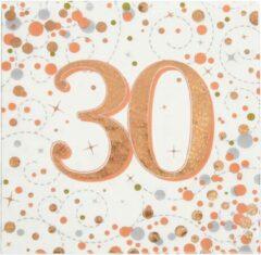Roze Oaktree UK Servetten 30 jaar Rose Gold (16 stuks)