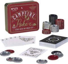 Gentlemens Hardware Gentlemen's Hardware Retro Campfire Games Texas Hold 'Em Poker Set