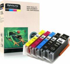 ReYours® inkt cartridge voor Canon 580 inktcartridge 581inktpatronen, Canon 580 581, Canon 580 xxl 581xxl multipack van 5 kleuren (1*PGBK, 1*BK/C/M/Y)