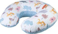 Blauwe Bubaba Voedingskussen - Zwangerschapskussen met wasbare hoes - Lion & Friends (70x18cm)