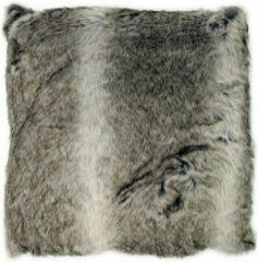 Grijze Lavandoux Woontante - Bont Kussen - Alaskan Wolf - 50x50